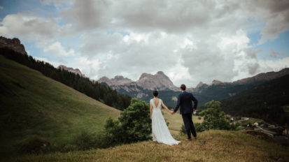 A chinese / german wedding in the Dolomites